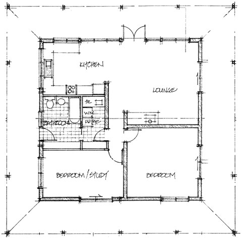 Brick Ranch House Plan, 3 Bedroom Ranch House Plan with Full